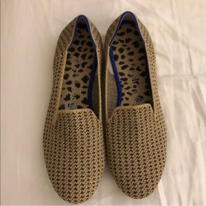 Rothy's the Loafer in Gold Houndstooth, 8.5 *rare*